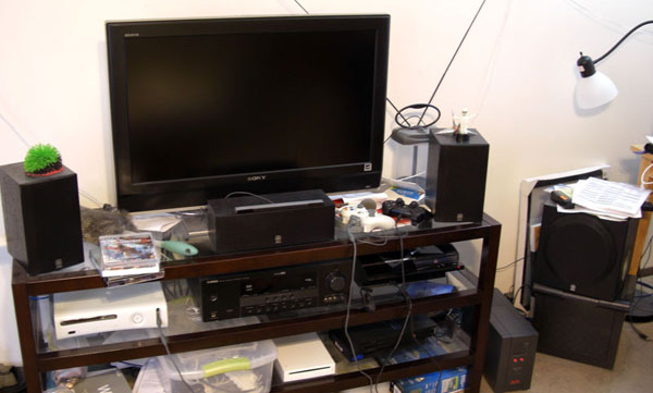 Entertainment Center Setup as of 10/24/2009