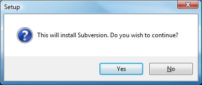 Subversion Setup Screen 1