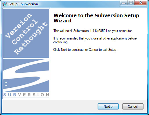 Subversion Setup Screen 2
