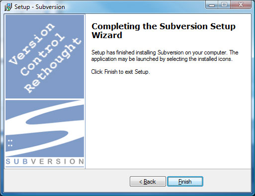 Subversion Setup Screen 9