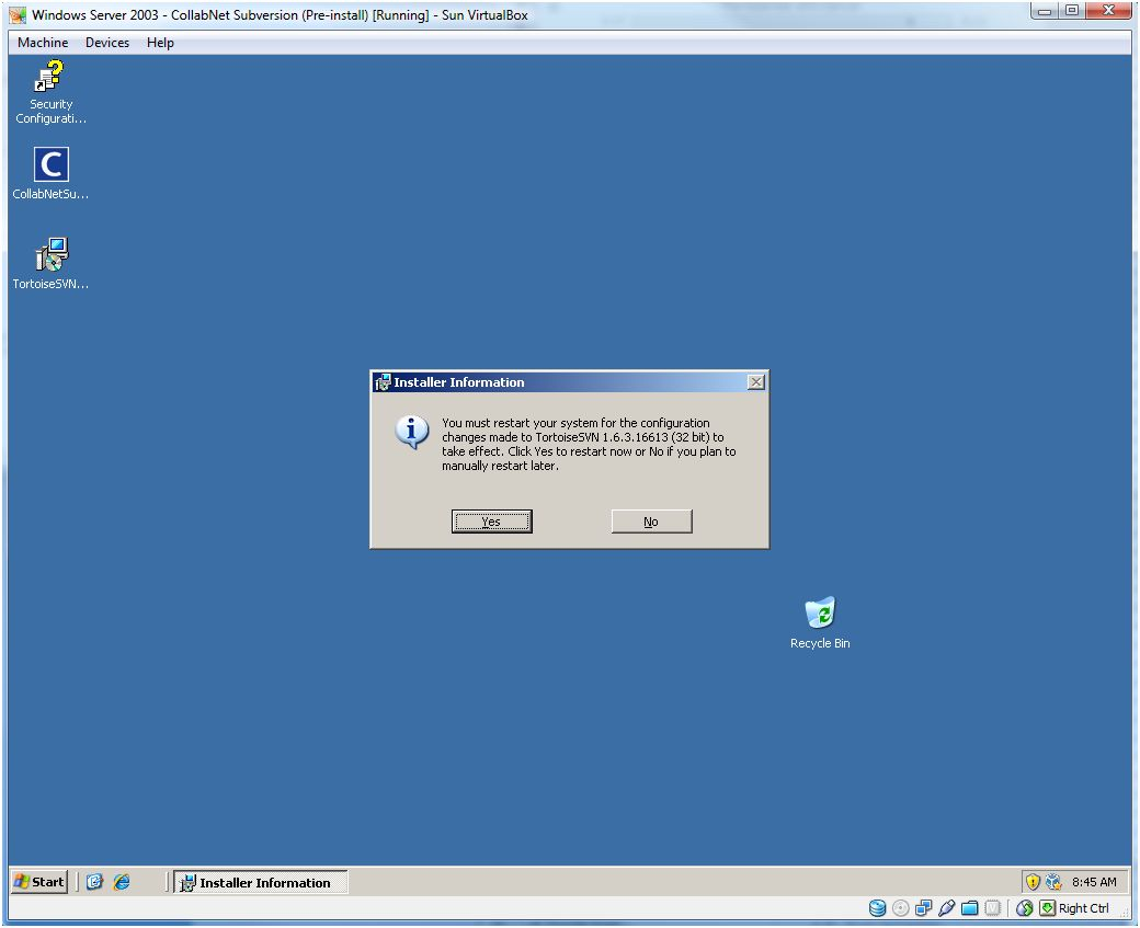 Installing collabnet subversion server 163 and tortoisesvn 163 accepting the defaults will get you through the install process captures 1 2 3 4 5 6 and youll need to baditri Gallery