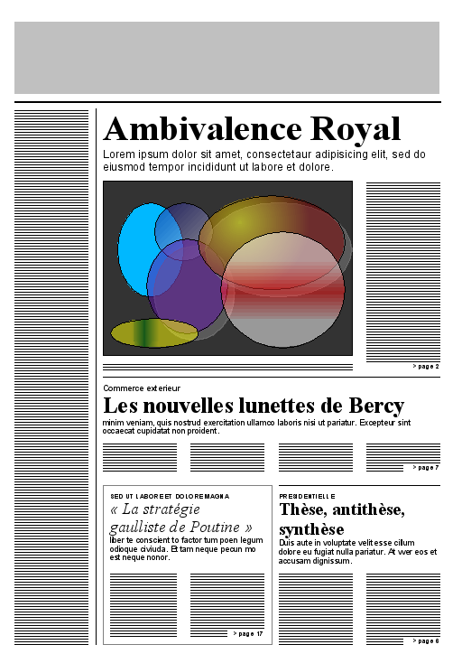 W3C example newspaper layout