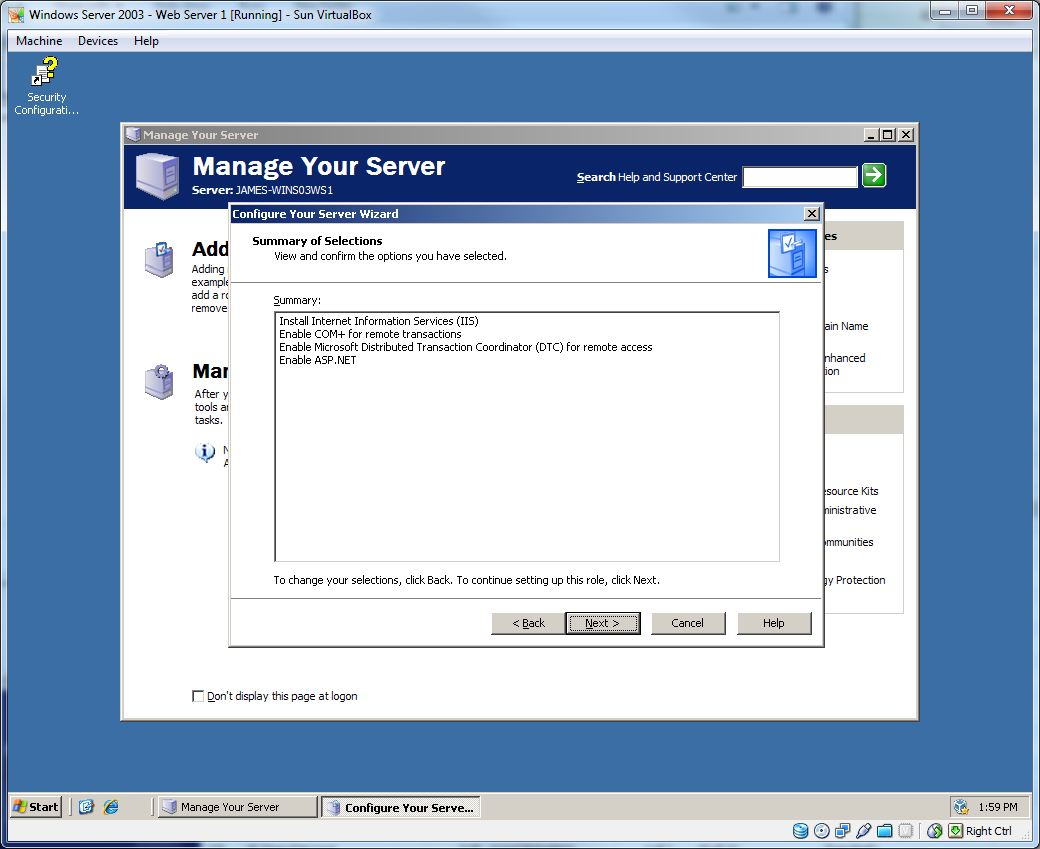 windows 2003 frontpage extensions